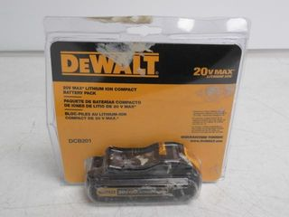Used  Dewalt 20V Max lithium Ion Compact Battery