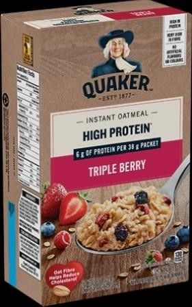 6  Boxes Quaker Triple Berry Instant Oatmeal   6