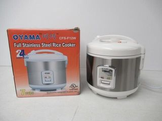As Is  Oyama CFS F12W 7 Cup Rice Cooker