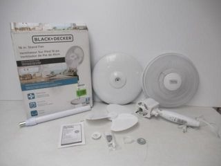 Used  BlACK DECKER 16  Stand Fan with Remote