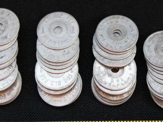 Vintage Oklahoma Metal Sales Tax Tokens