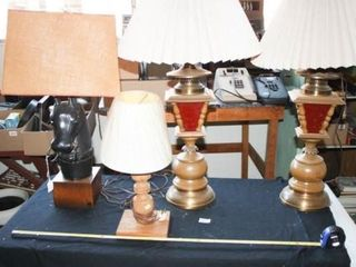 Wooden lamps Horse  lantern style  spindle