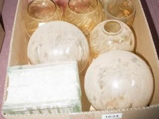 Glass lampshades 11 total   Glass Block