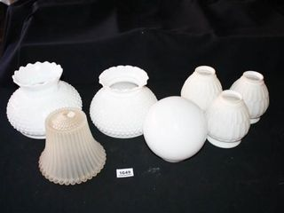 Glass lighting Globes shades 7 total