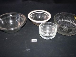 Glass Bowls  5  Fire King  Crystal
