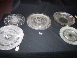 Glass Serving Platters  8   Miss America