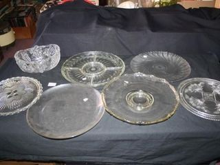 Glass Serving Pieces  Divided Dish  Oval Basket