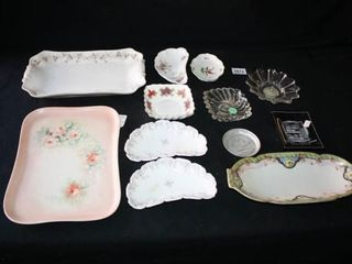 Rectangle and Moon shaped Trays etc