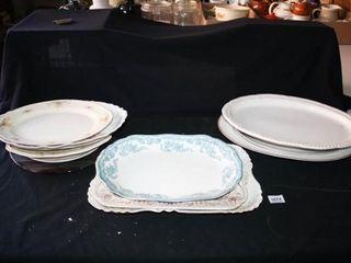 Serving Platters  11  total  Harwood