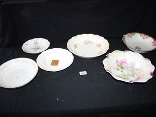 Bowls  6 total  Various Sizes and Patterns
