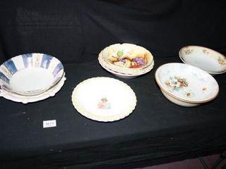 Serving Bowls  10 total Various Patterns