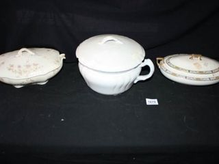 Handled Casserole Dishes   Ironstone  tureen