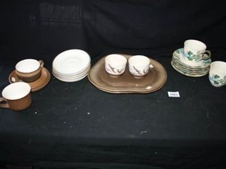 Various Pottery Type Dishes  Tamac  Oemby