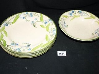 Franciscan Forget me Not  4 Plates Bowl