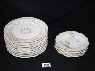 Floral Pattern Dishes  9  Small Rose Patterns