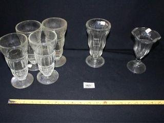 Sundae Glasses  6  Various Patterns