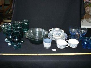 Blue Glassware  Various shades  CeramicIJ
