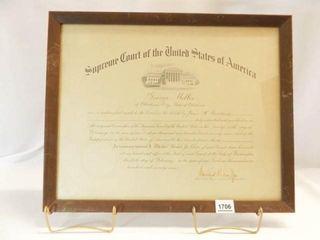 Supreme Court of USA Certificate  1979