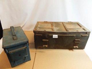 Metal Trunk  Blue Metal Ammo Box