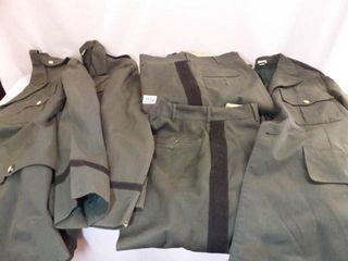 Green Military Jackets  3  Pants  3