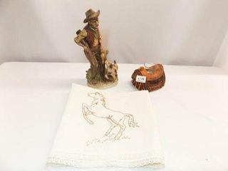 Ardco Figurine  Saddle Candle Holder