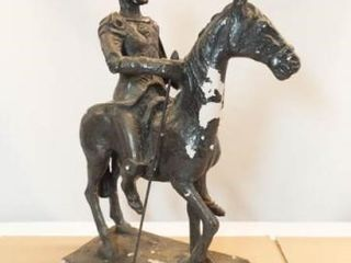 Plaster Horse with Armored Rider  16