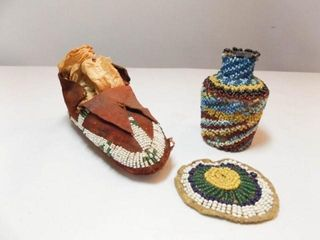 Beaded Native American Type Pieces  3