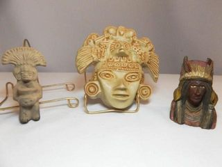 Carved Stone  Wood Pieces  3