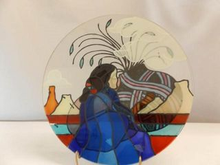 Glass Art  Native American Theme  14