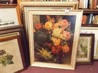 Framed Art  Floral Theme  8