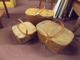Picnic Baskets  3    worn condition