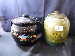 Cookie Jars 2  Made in USA  Hull