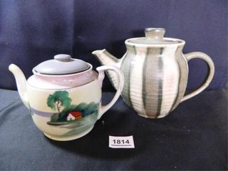 Teapots  1 Pottery dated 1974