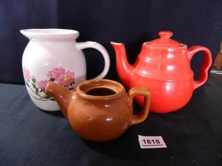 Universal Teapot Red  Pitcher