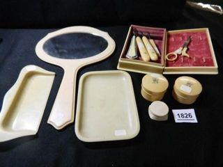 Vintage Vanity Items  Cuticle Items