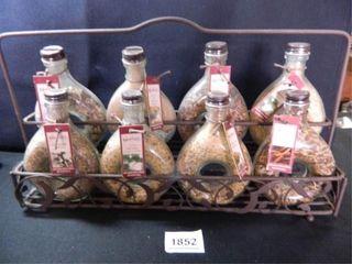 Spice Rack w 8 Bottles