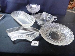 Juicer  Pedestal Dish Purple Glass
