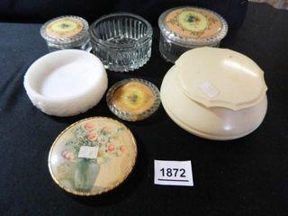 Vanity Jars   lids  Toothpick Holder