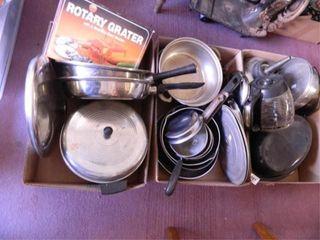 Pots   Pans Assorted   3  Boxes