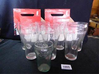 Coca Cola Glasses  8  2 Cartons