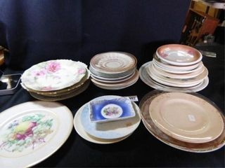 Hand painted Plates  Saucers