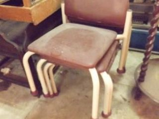 Children s Size Chairs  Metal  Vinyl  4