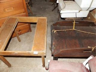 Wood Table  Small Wood Folding Table