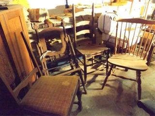 Wood Chairs  4  Old Style Folding Chair