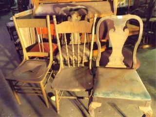 Wood Chairs  4  Metal  1  Office  1