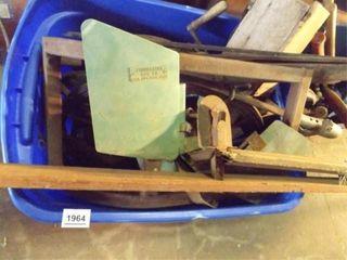 Vintage Metal  Wood Tools  Equipment