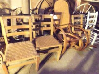 Wood Chairs  3 Rocking  5