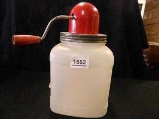 Butter Churn Top on plastic jar