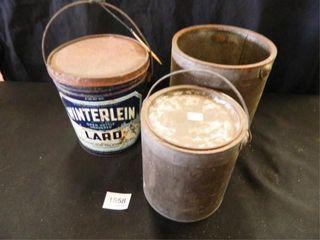 Winterlein lard Metal Can