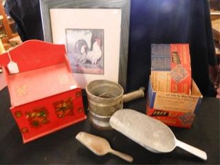 Vintage Sifter  Scoops  Recipe Box